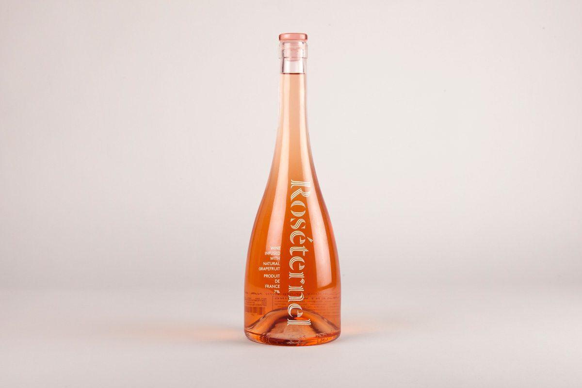 bouteille de vin rosé roséternel packaging par ichetkar