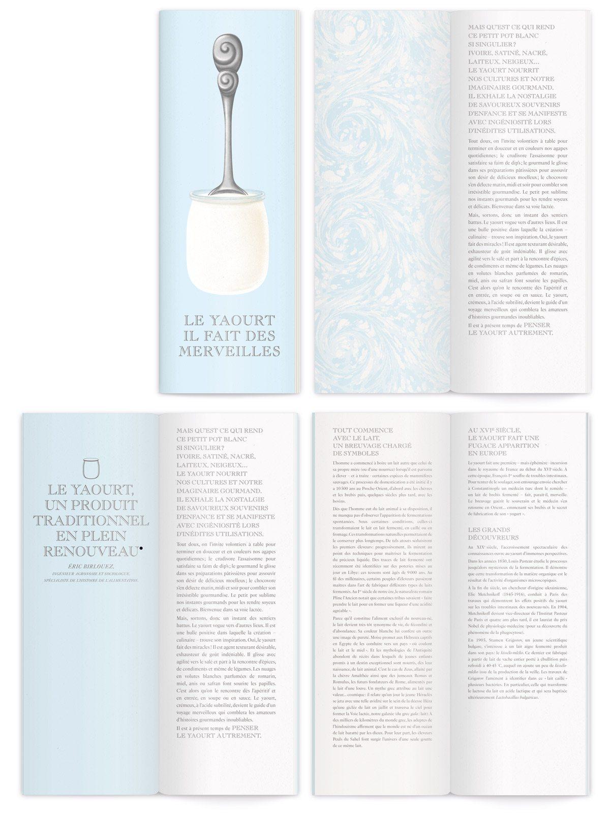 livret sur le yaourt illustré par ichetkar cuillères réalistes gardes anciennes