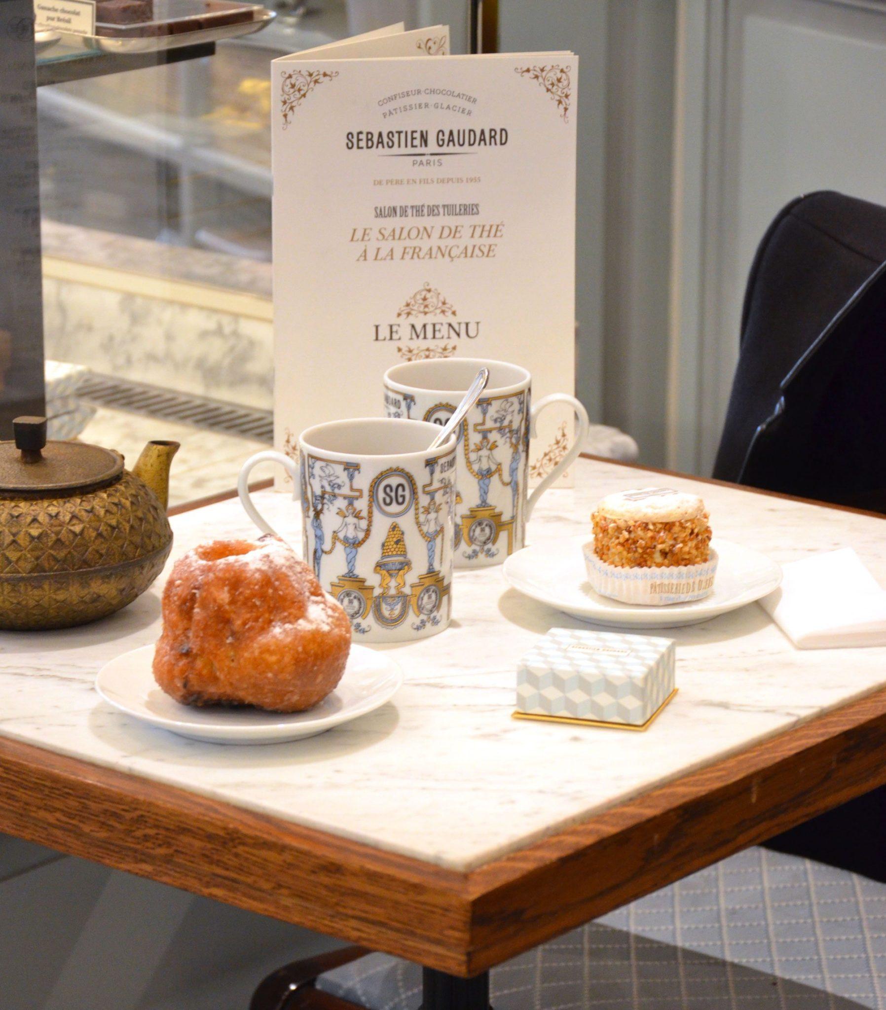 Le menu Sébastien Gaudard pour la patisserie - salon de thé à la française, dessiné par IchetKar