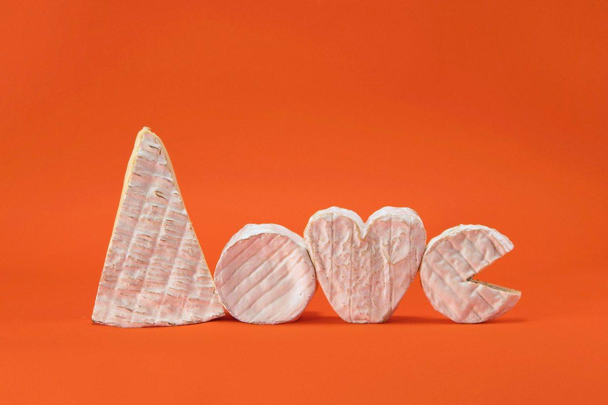 composition love fromages croute fleurie par jean-charles karmann fond orange