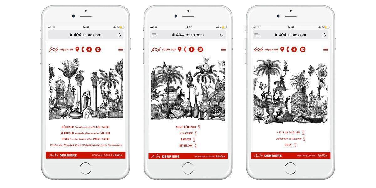 La version responsive du site web du 404, design Ichetkar