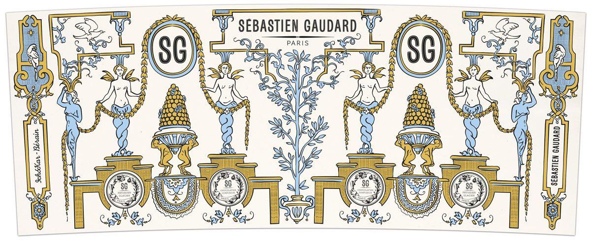 dessin du motif mug pour Sébastien Gaudard, Ich&Kar s'inspire de Berain