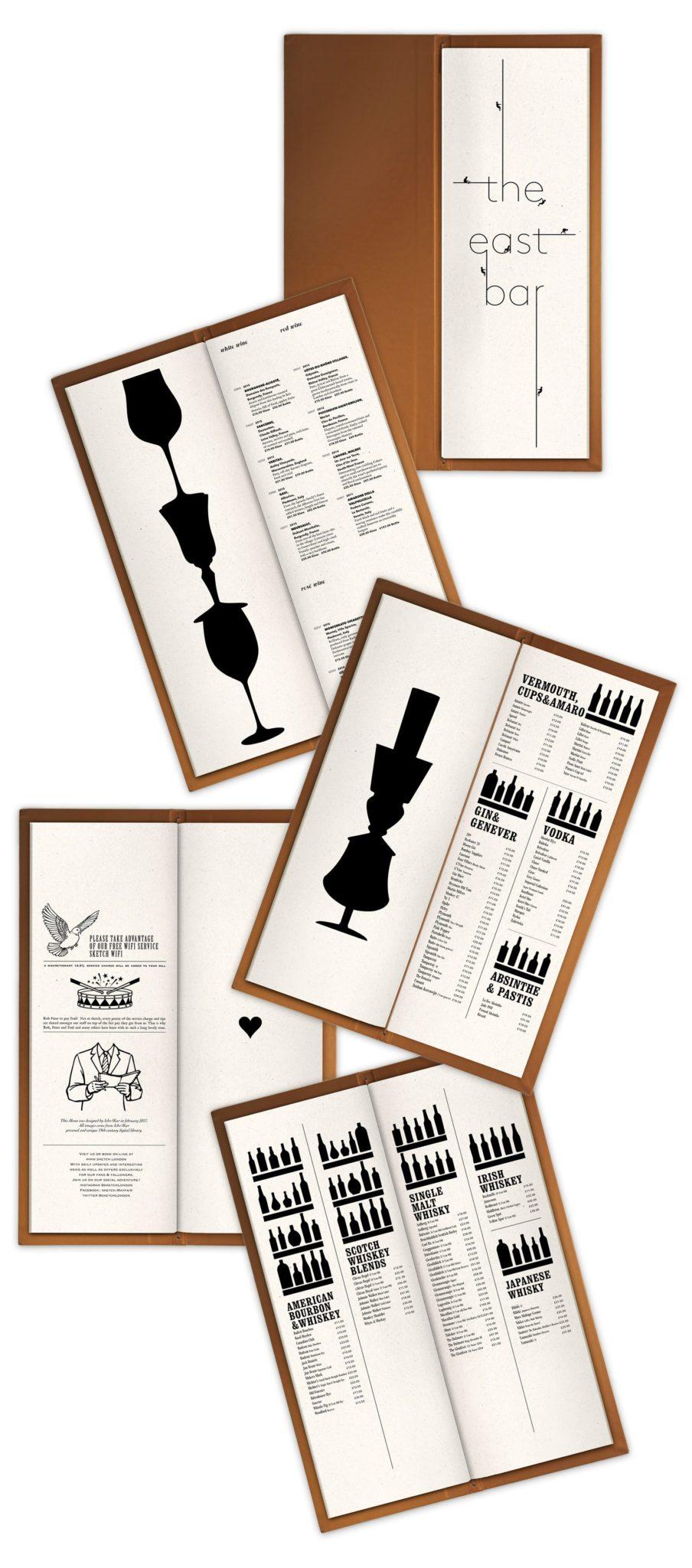 cartes cocktails sketch london cocktails and spirits list ichetkar silhouette