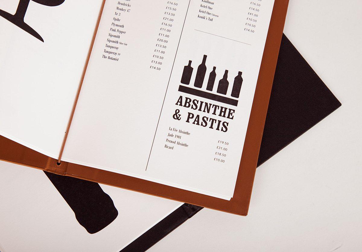 cartes cocktails sketch london détail élastique intérieur gallery et east bar