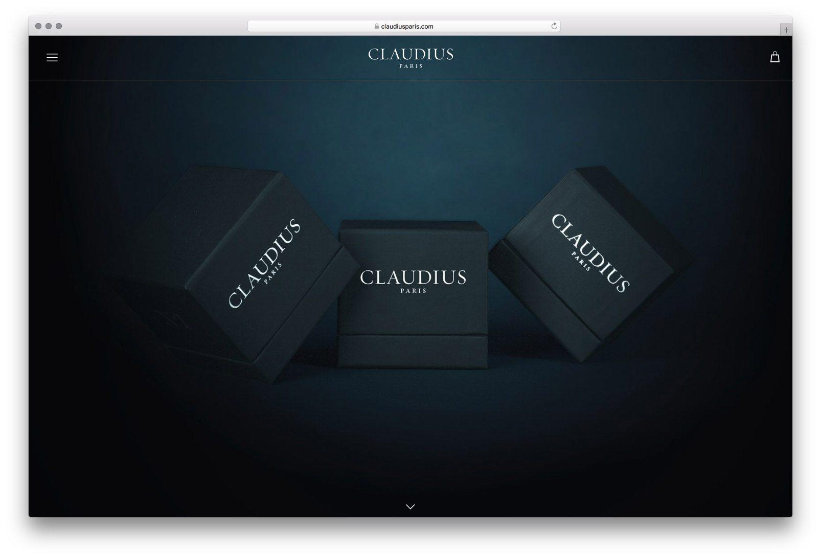 Page d'accueil du site internet de Claudius par Ichetkar
