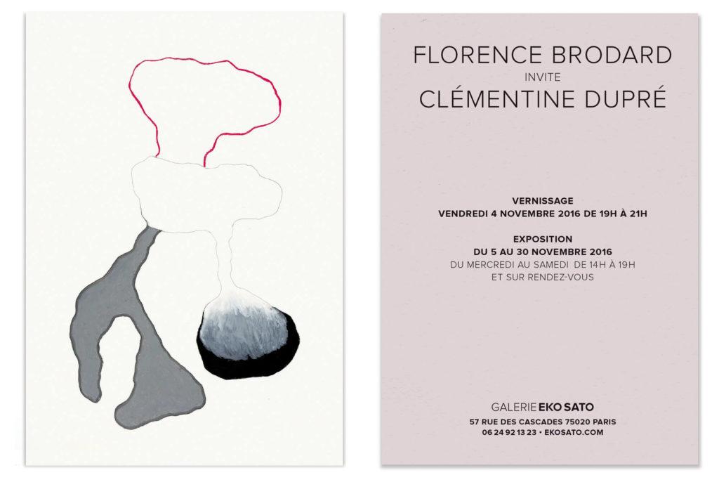 florence brodard et Clémentine dupré sont invitées pour leur exposition a la galerie EKO SATO
