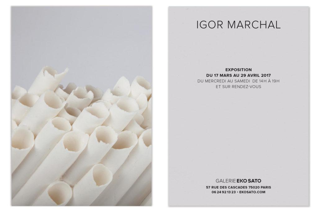 un carton contemporain pour IGOR MARCHAL dessiné par ich et kar