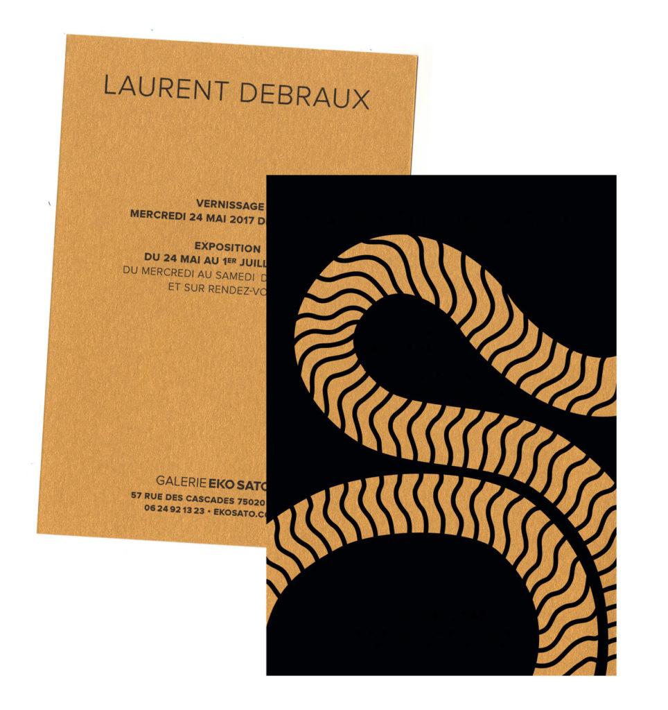 une belle fabrication sur un papier doré pour l'artiste cinétique Laurent DEBRAUX
