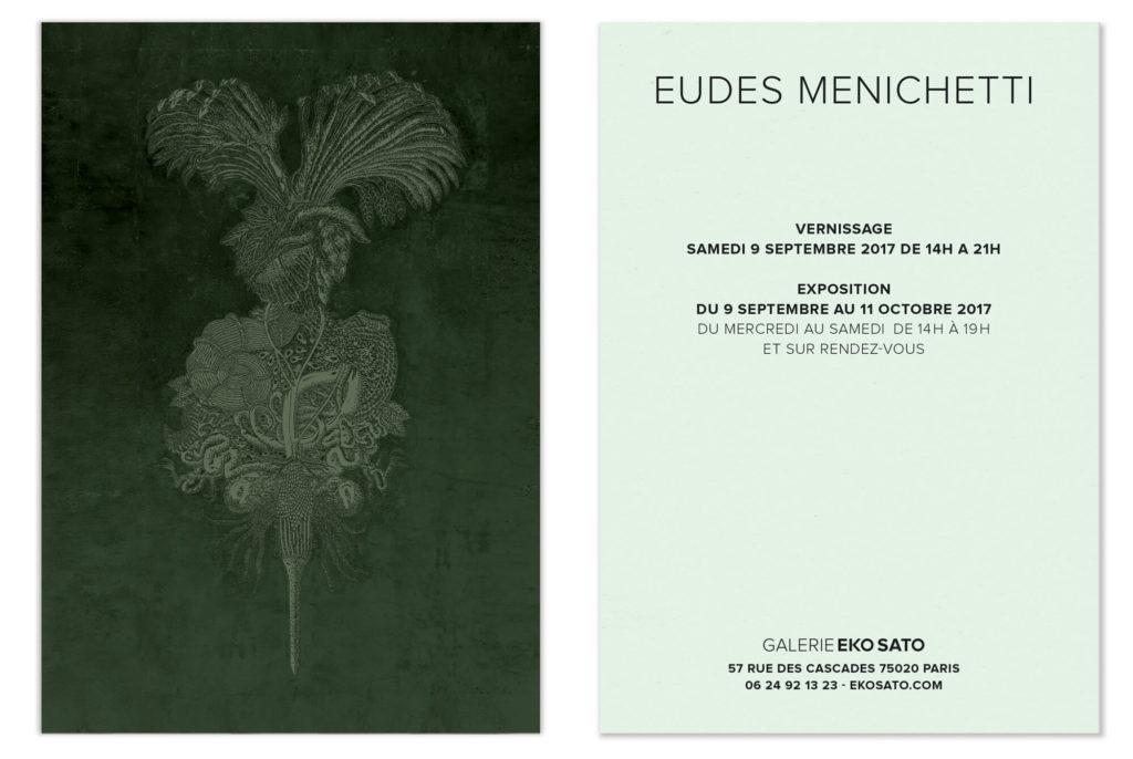 la galerie eko sato acceuille le peintre EUDES MENICHETTI pour son exposition, un beau carton dans les teintes emeraude