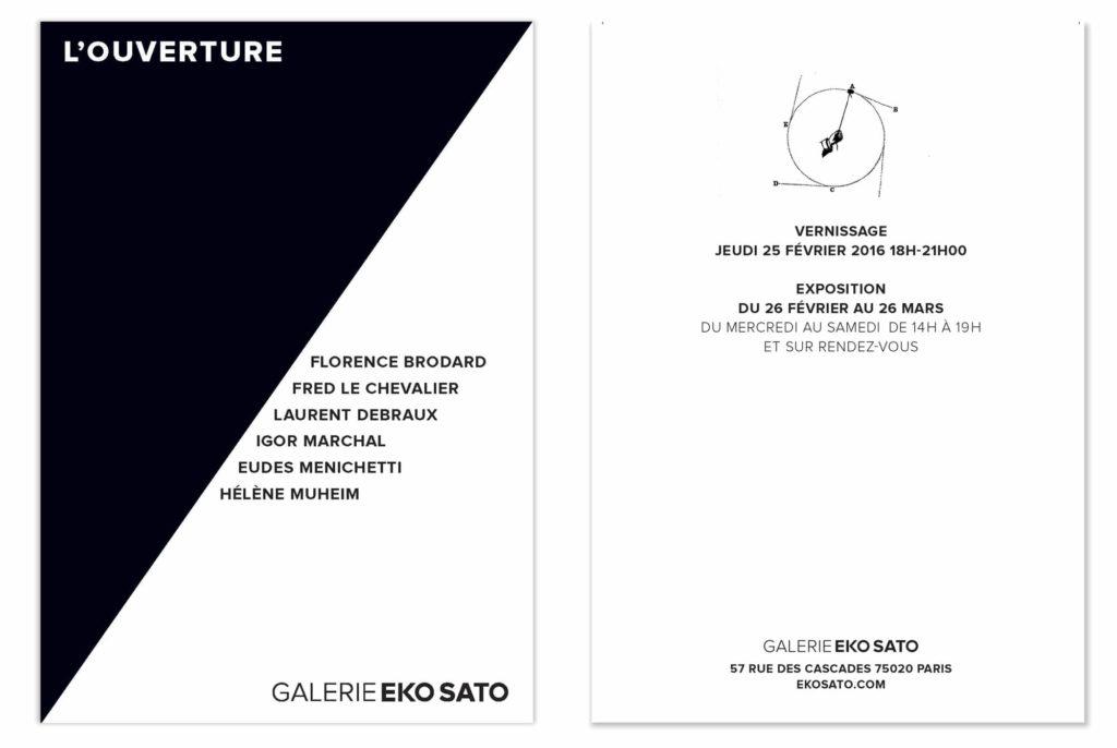 identité visuelle tranchée pour la galerie d'art parisienne par ich&kar