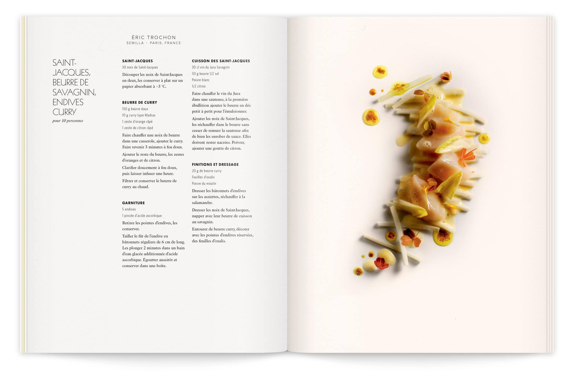 Une recette d'éric trochon mise en valeur par le photographe Peter Lippmann, sous la direction artistique d'Helena Ichbiah