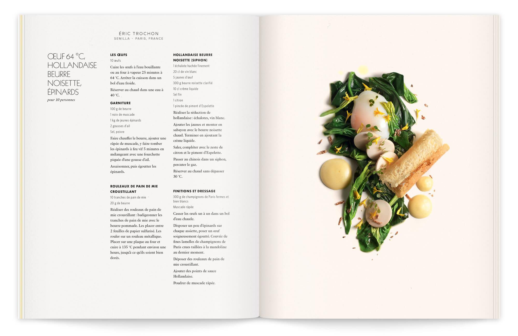 helena ichbiah réunit une équipe de talent pour le shooting culinaire de cette brochure gastronomique. Une recette du chef Éric trochon magnifié par peter lippmann
