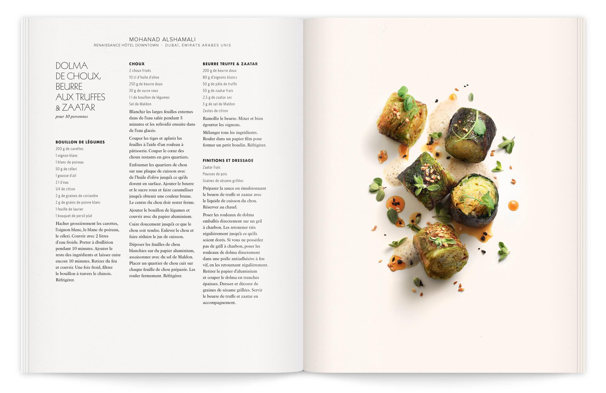 un cahier secrets de beurre, secrets de chefs, la photographie est de peter lippman sous la direction d'ich&kar, lumière et piqué sont de mise pour une composition sans assiette