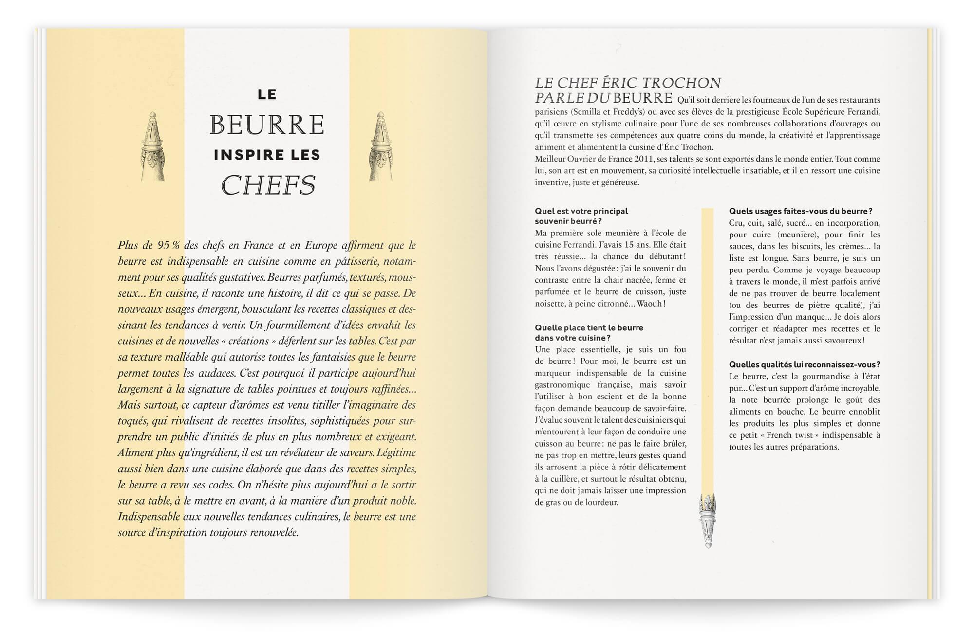 belle mise en page classique contemporaine, pour une brochure de qualité dessinée par Ich&Kar