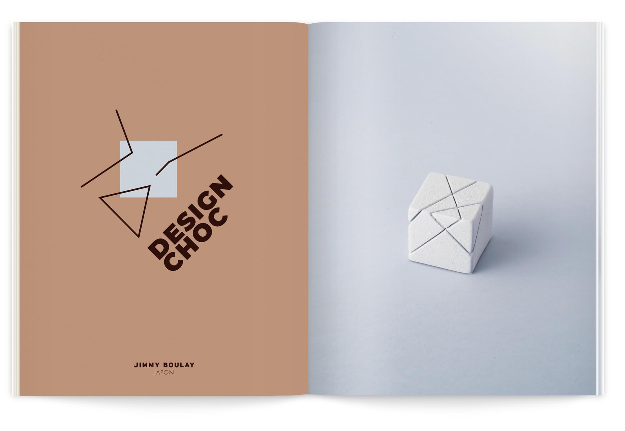 Double page du livret la creme de la creme, illustration moderniste bauhaus par IchetKar