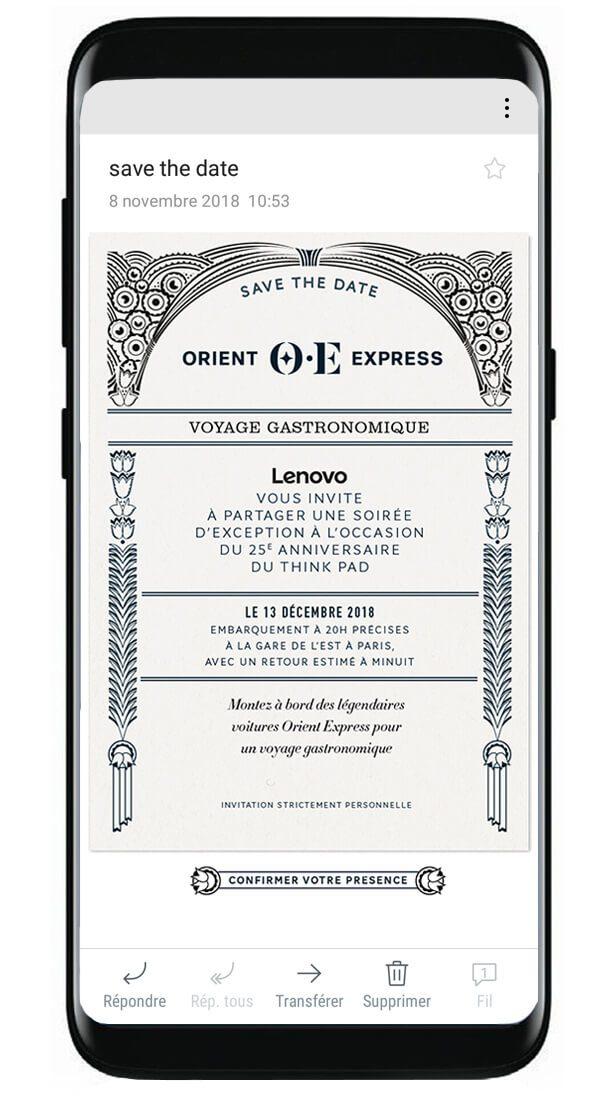 save the date numérique dessiné par l'agence Ich&Kar dans le cadre du projet de branding événementiel de la marque Orient Express