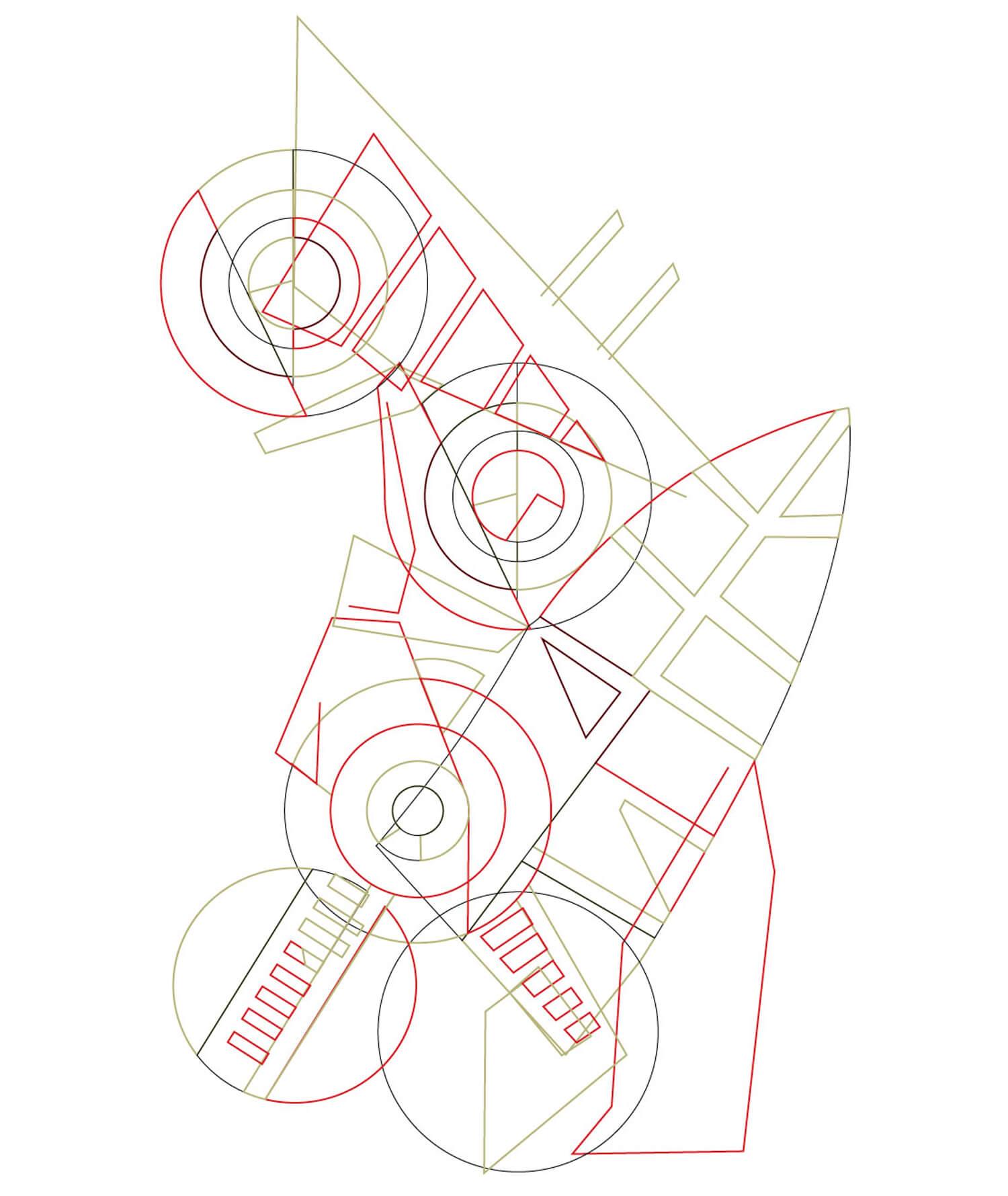 work in progress du redesign du motif art déco par le studio Ich&Kar pour l'orient Express