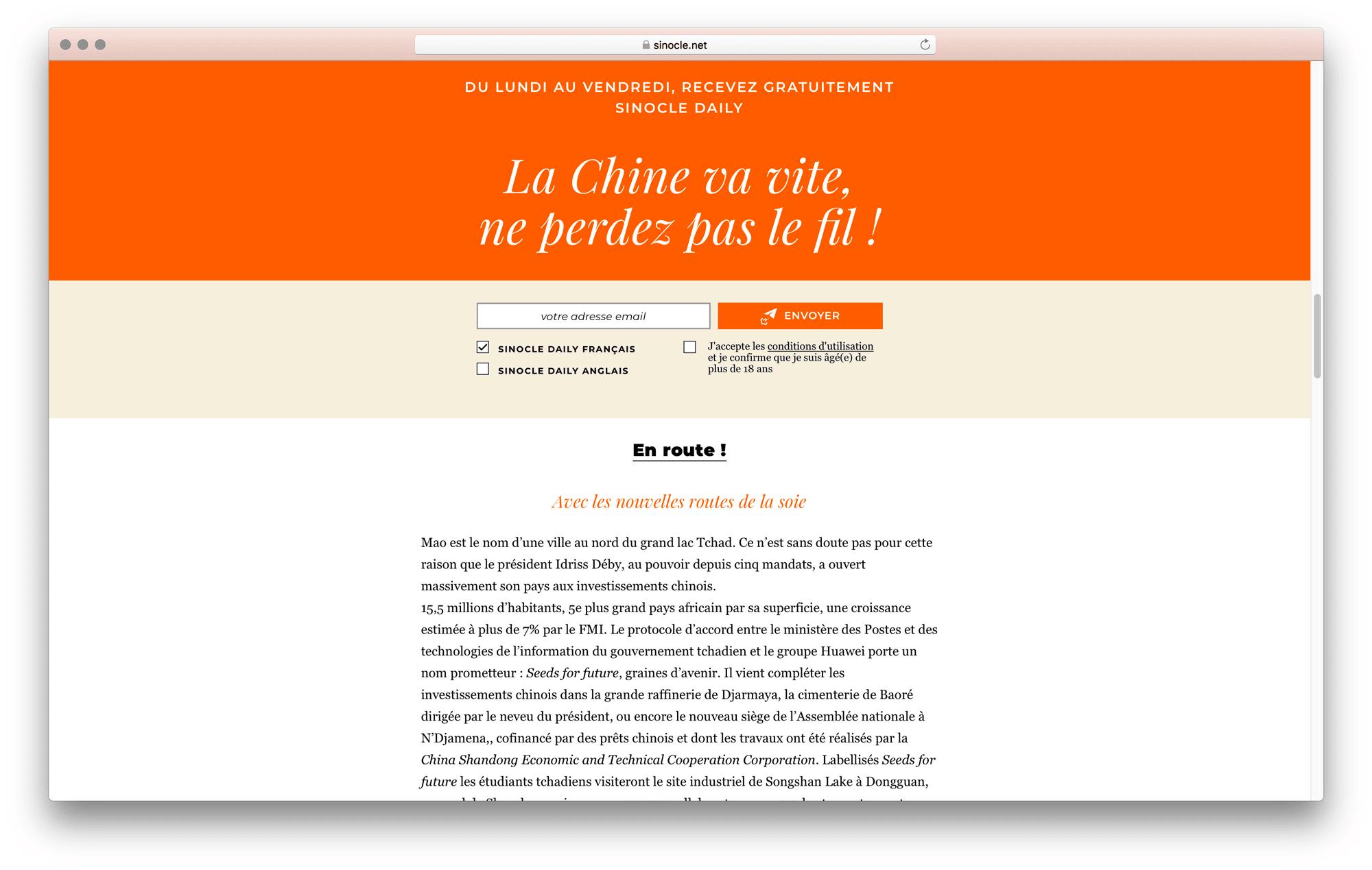 Sinocle est un site web responsive pour un média numérique français designé par Ich&Kar