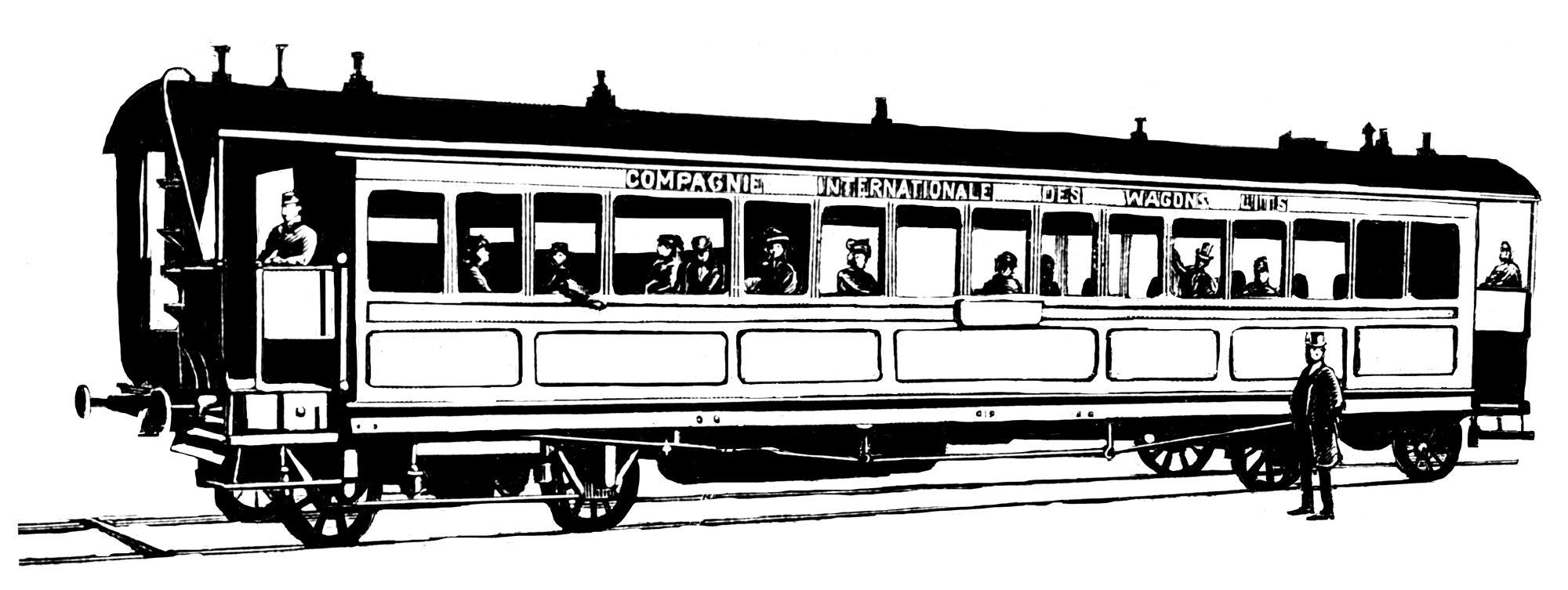 Illustration du train Orient Express par Ich&Kar