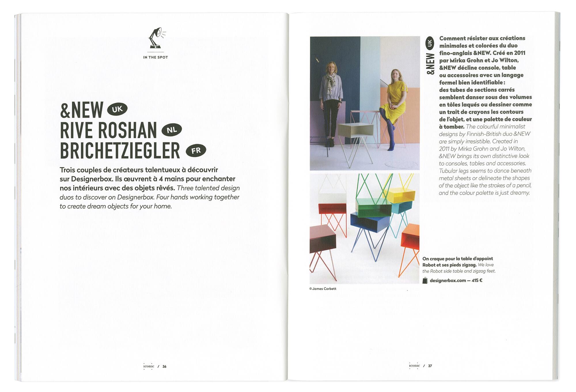 ichetkar dessine la maquette du magazine destiné a label famille, premier numéro du magazine de designerbox