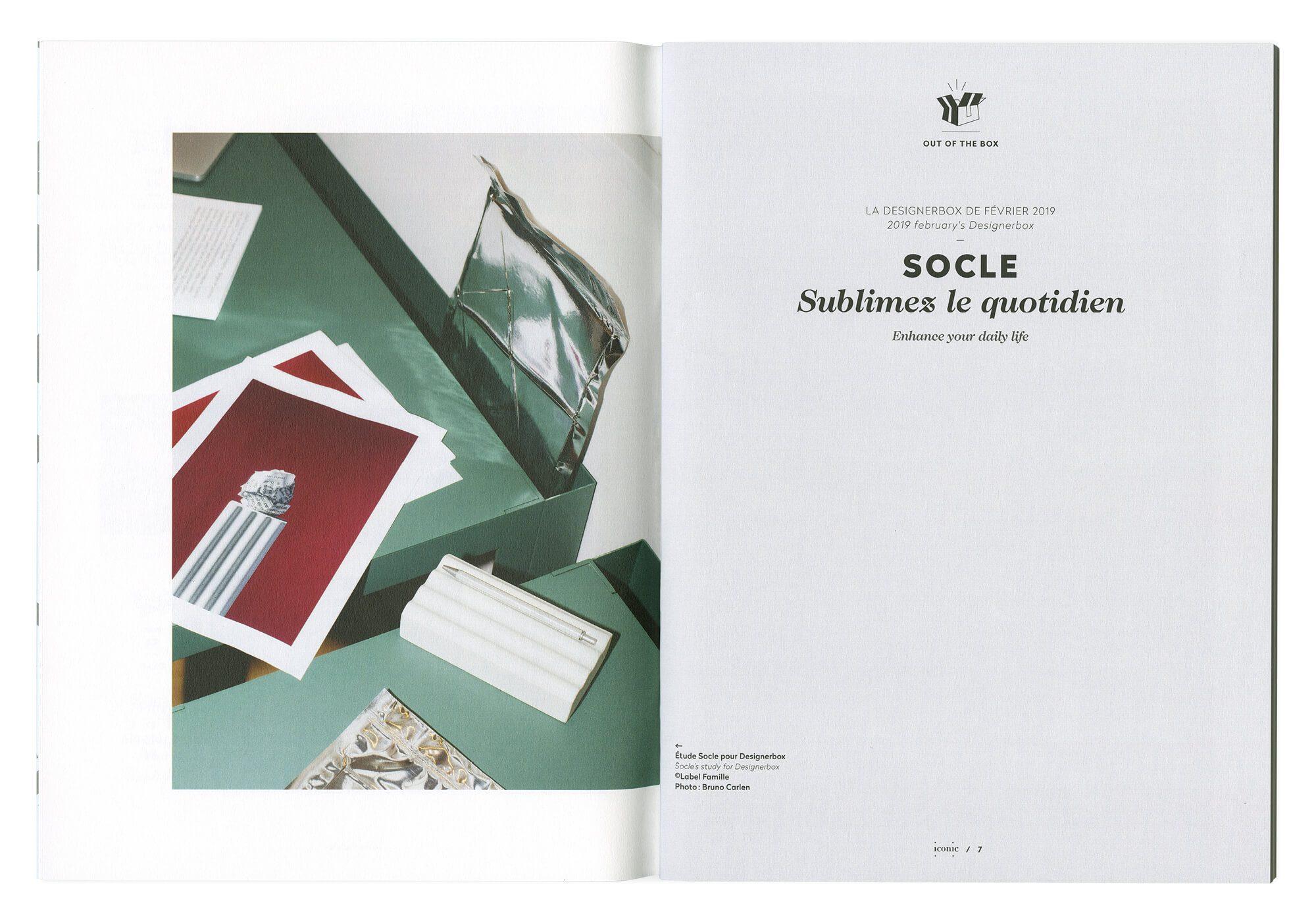 ouverture d'article avec photographie, design éditorial et illustration par le studio Ich&Kar