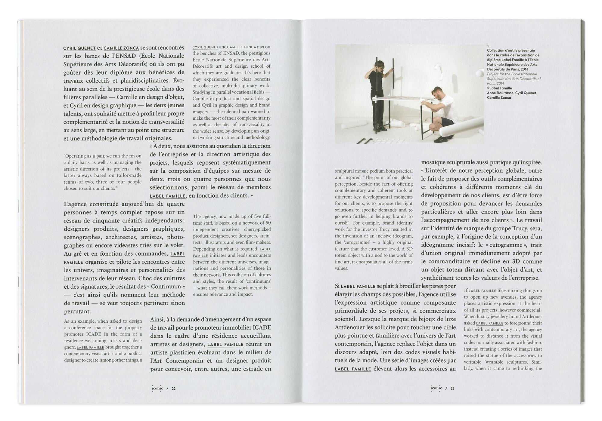 article de magazine mis en page par ichetkar pour la box de label famille