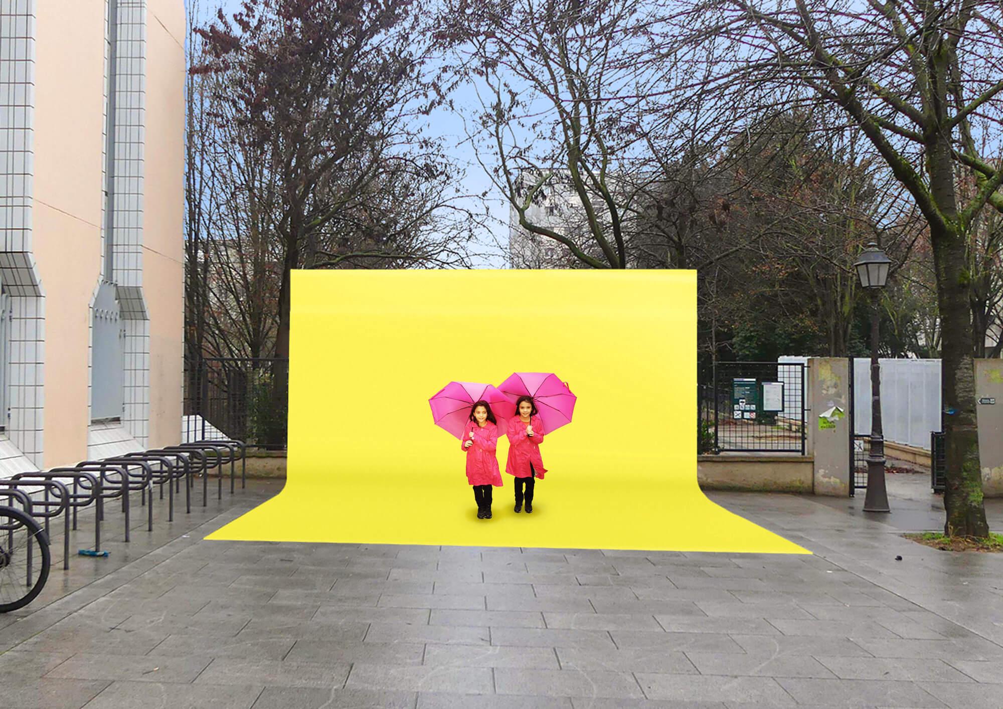 studio d'incruste en plein air pour l'appel a projet Embellir Paris