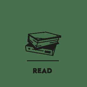pictogramme dessiné pour la rubrique lecture de la marque designerbox, le studio ichetkar crée du contenu pour la newsletter design de la plateforme