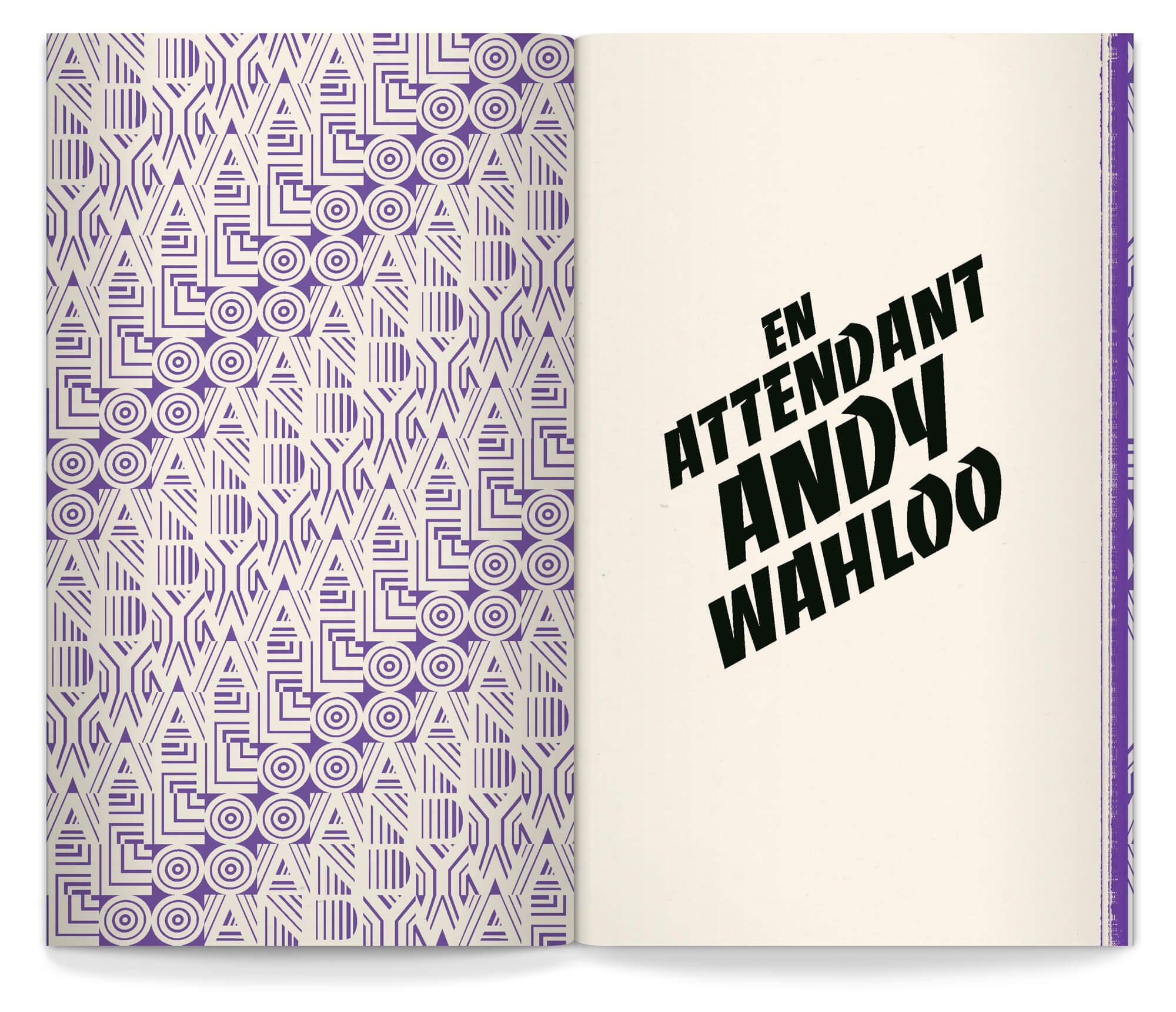 carte-livre déployée, motif rétro en page de garde, et imposante banco en première ! mise en page par le studio Ich&Kar