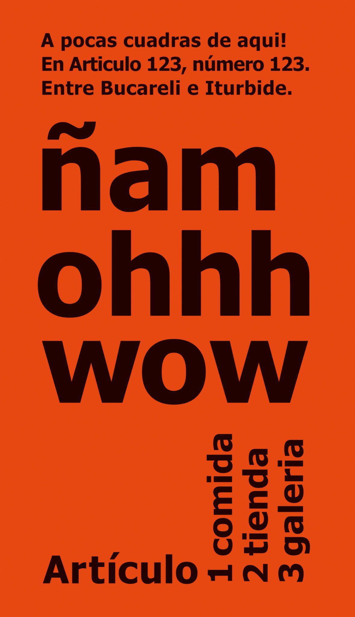 ñam ohhh wow poster orange dessiné par Ich&Kar pour artículo 123