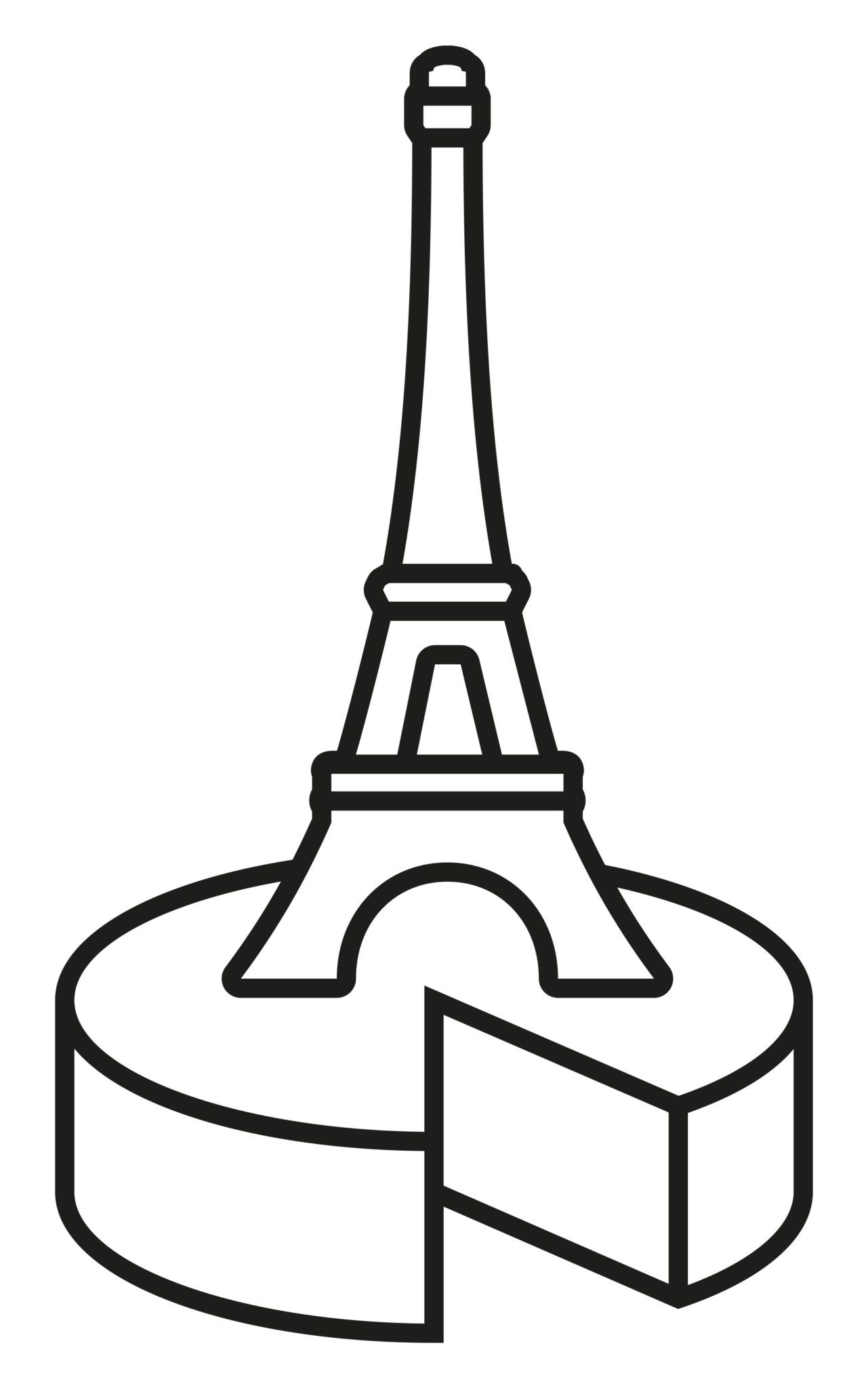 logotype tour Effeil dessiné par IchetKar pour le nouveau concept-store chinois dédié au fromage, au beurre et à la crème française à Shanghai