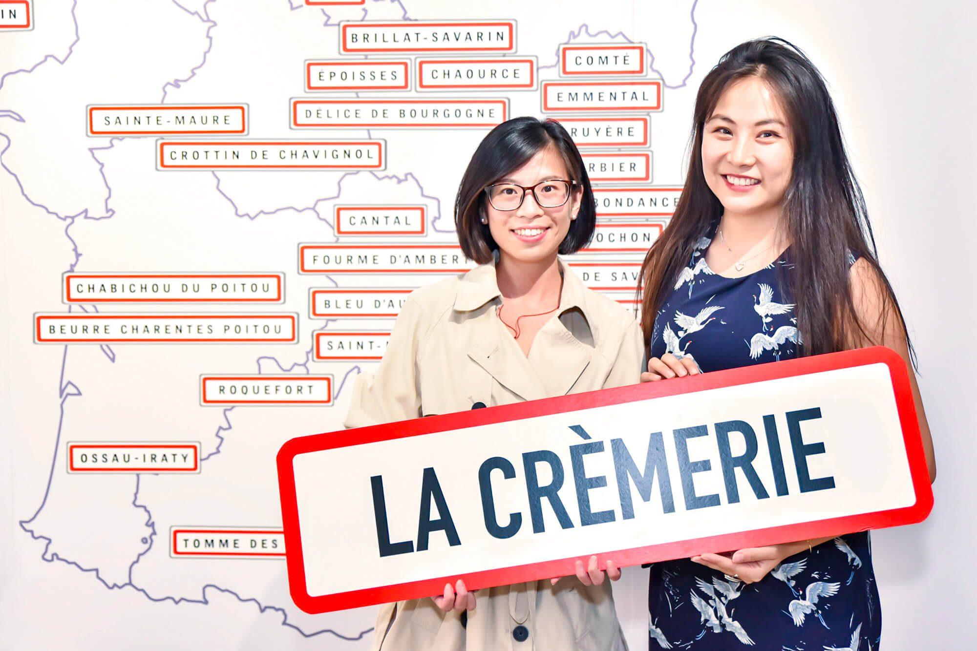 La carte de France des fromages dans le concept store la Cremerie