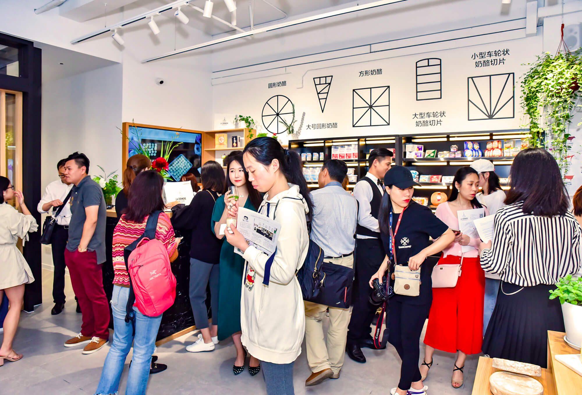 La soirée d'ouverture de la Cremerie a Shanghai, interior design par Helena Ichbiah et son équipe