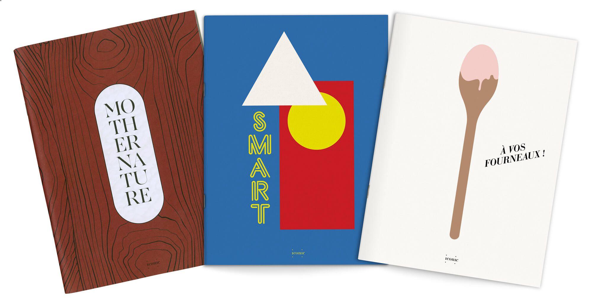 Ichetkar dessine chaque mois une illustration graphique pour la couverture du magazine Iconic de designer box.