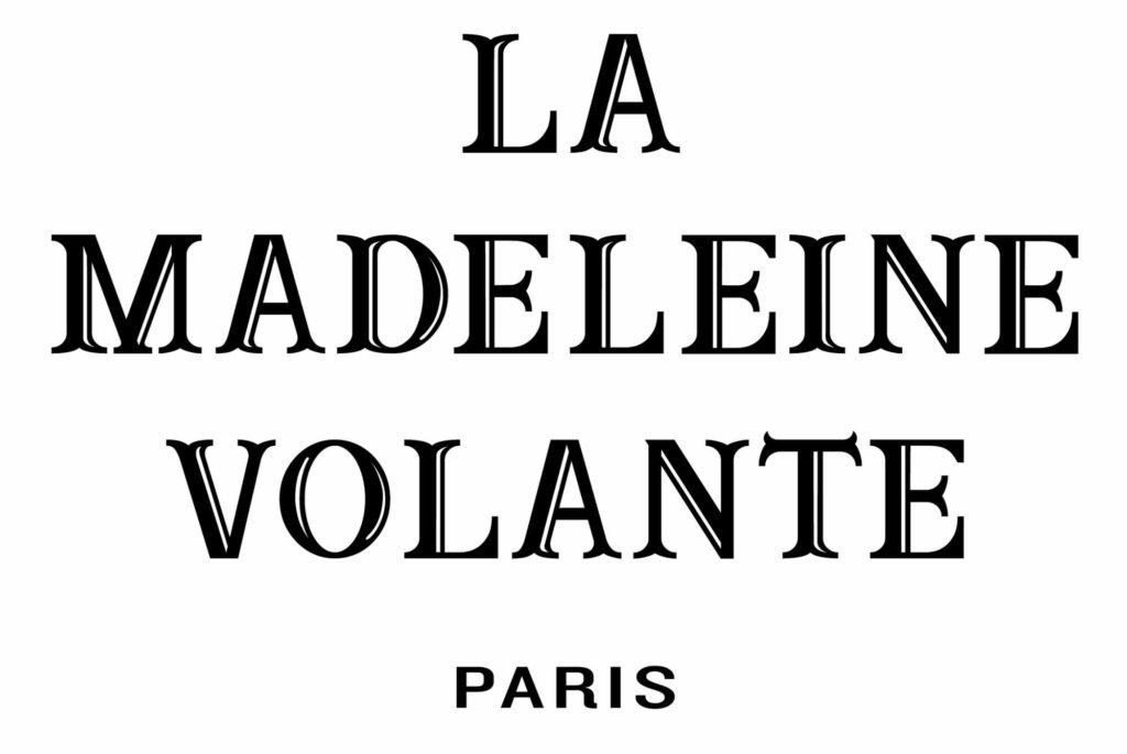 Le logo noir et blanc de La madeleine volante, start up parisienne