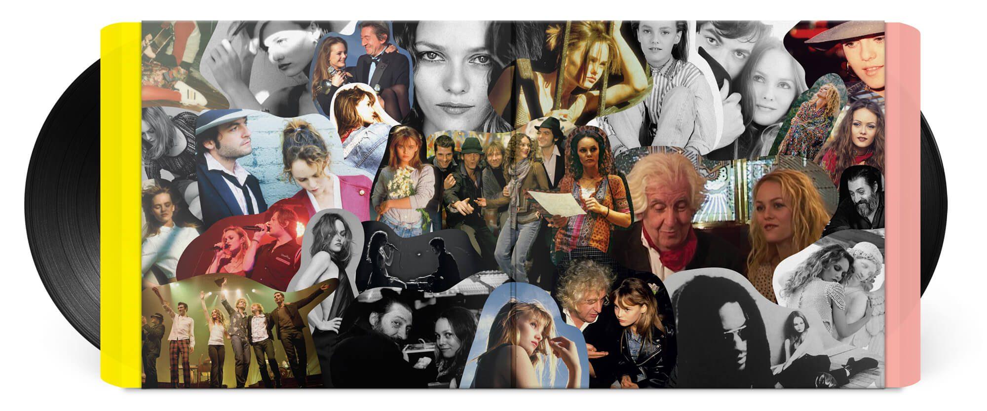 Double vinyle du best of Vanessa Paradis, collage photo inédit de Joe le taxi à Divinidylle, design IchetKar