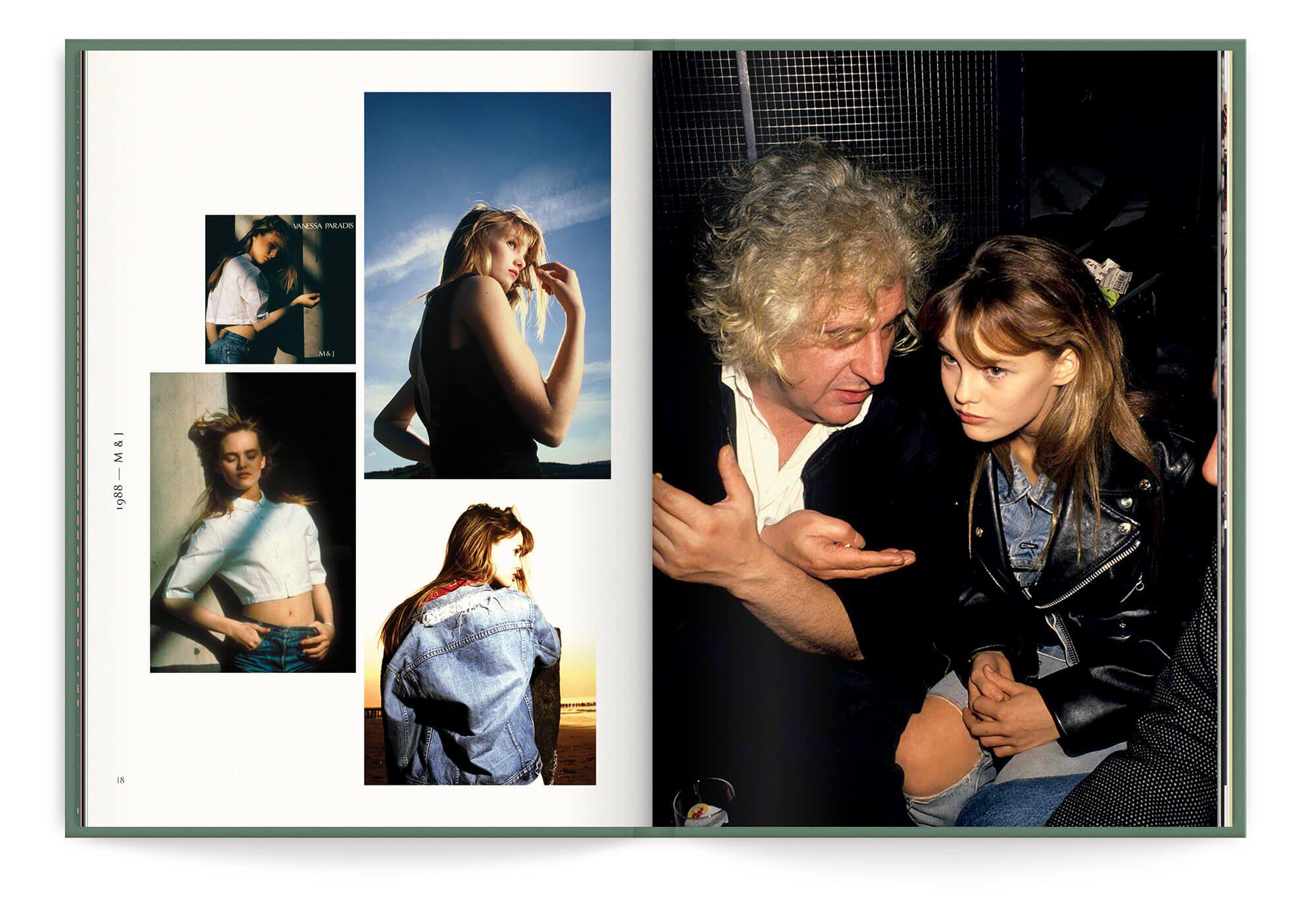 Photo inédite de la periode du premier album de Vanessa Paradis, M&J, 1988. Design IchetKar