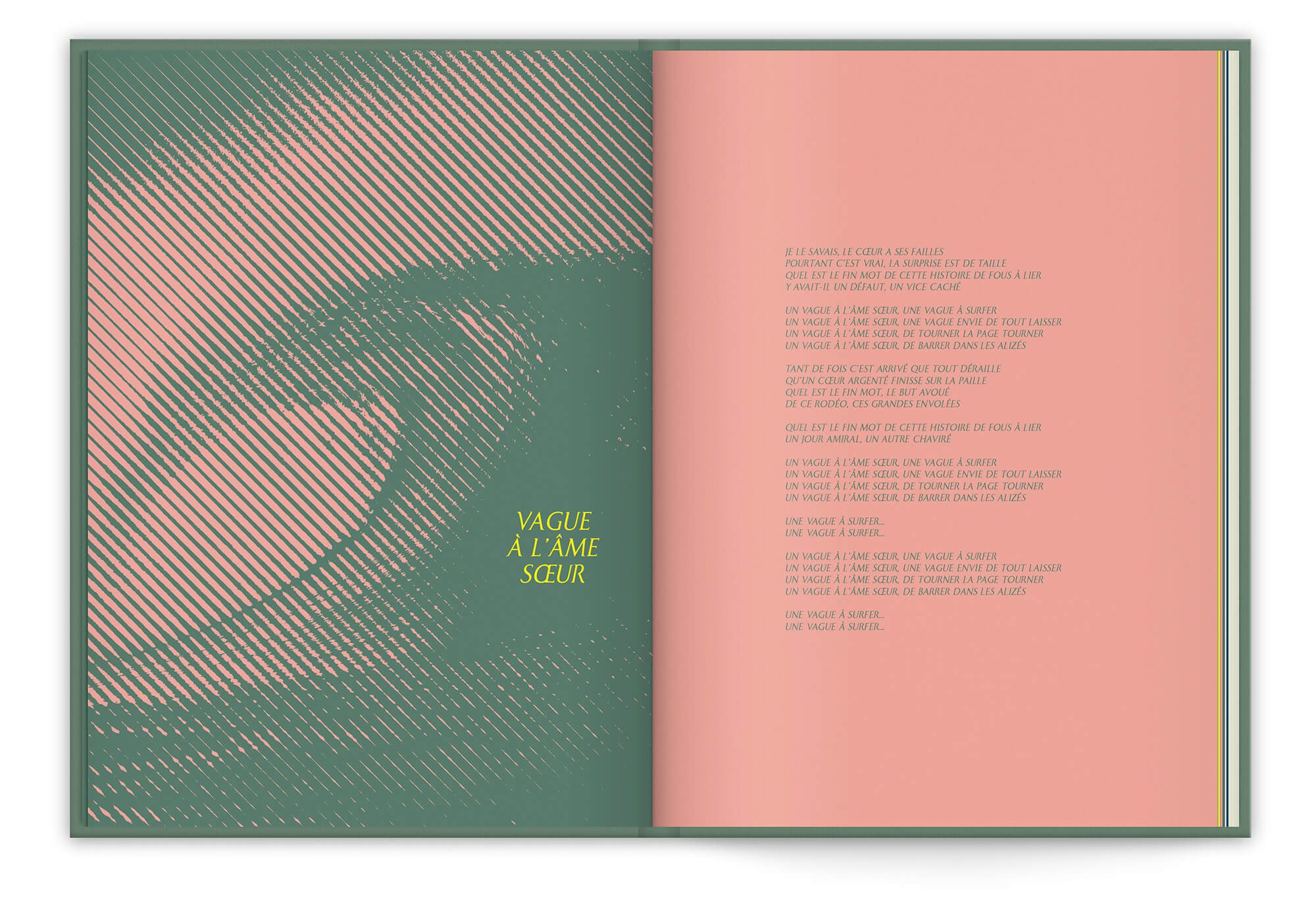 Le single Vague à l'âme soeur, titre inédit lors de la sortie du best of 2019 de Vanessa Paradis, Image tramé et design IchetKar