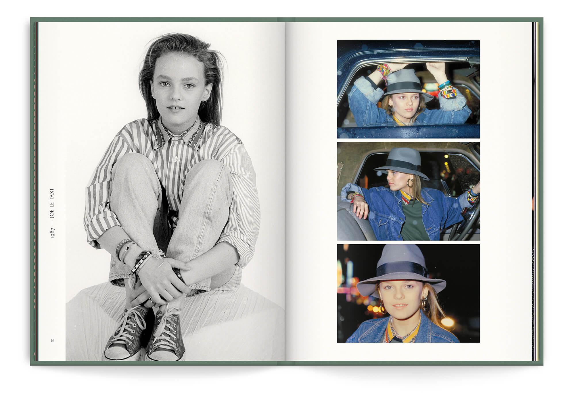 Vanessa Paradis pendant le période Joe le Taxi, photos inédites réunies dans le livre disque collector pour la sortie du Best Of, graphisme IchetKar