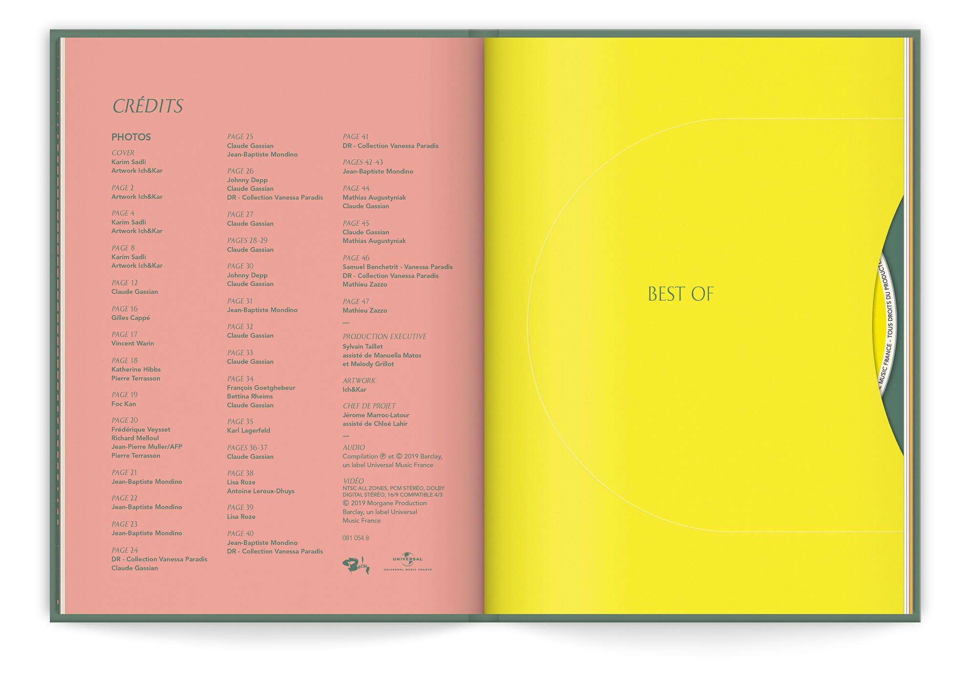 Livre disque collector du double Best of Paradis, un graphisme esprit vintage, design IchetKar
