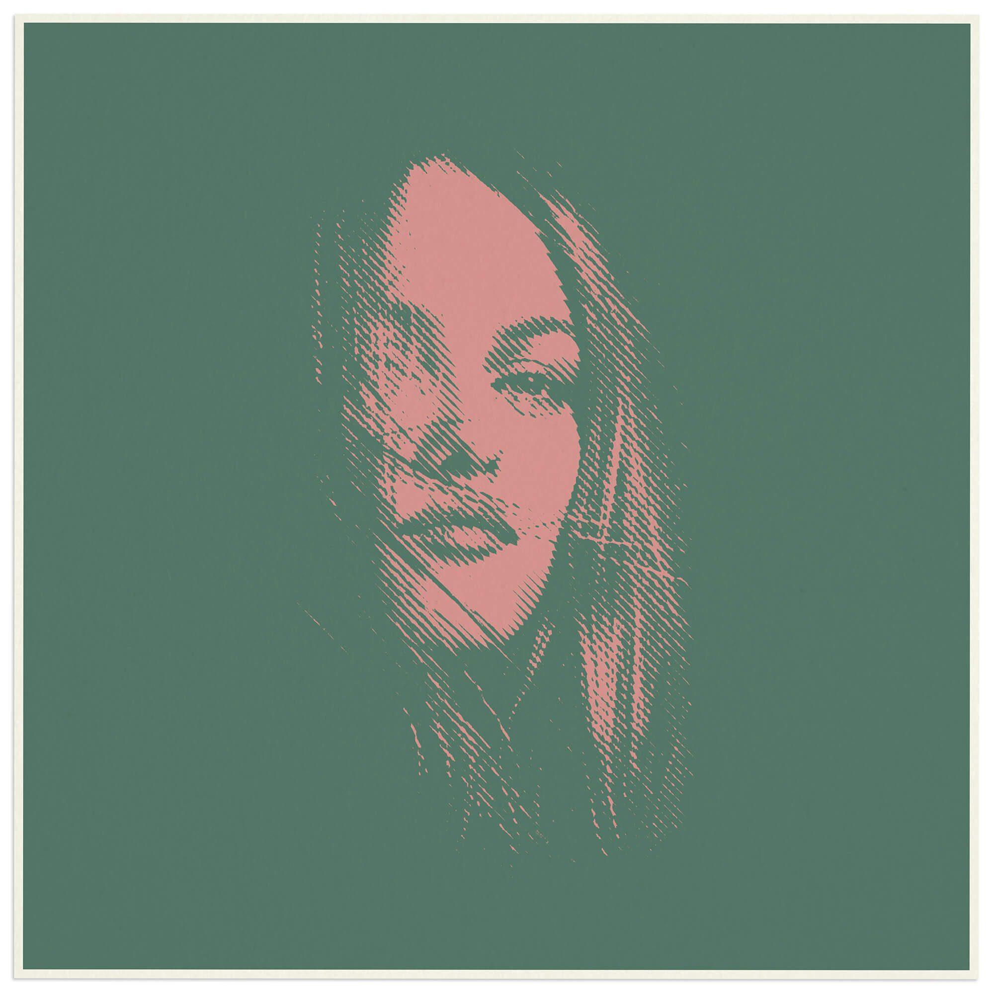 lithographie du portrait graphique de Vanessa Paradis en édition limitée à 1000 exemplaire, design et graphisme Helena Ichbiah, IchetKar