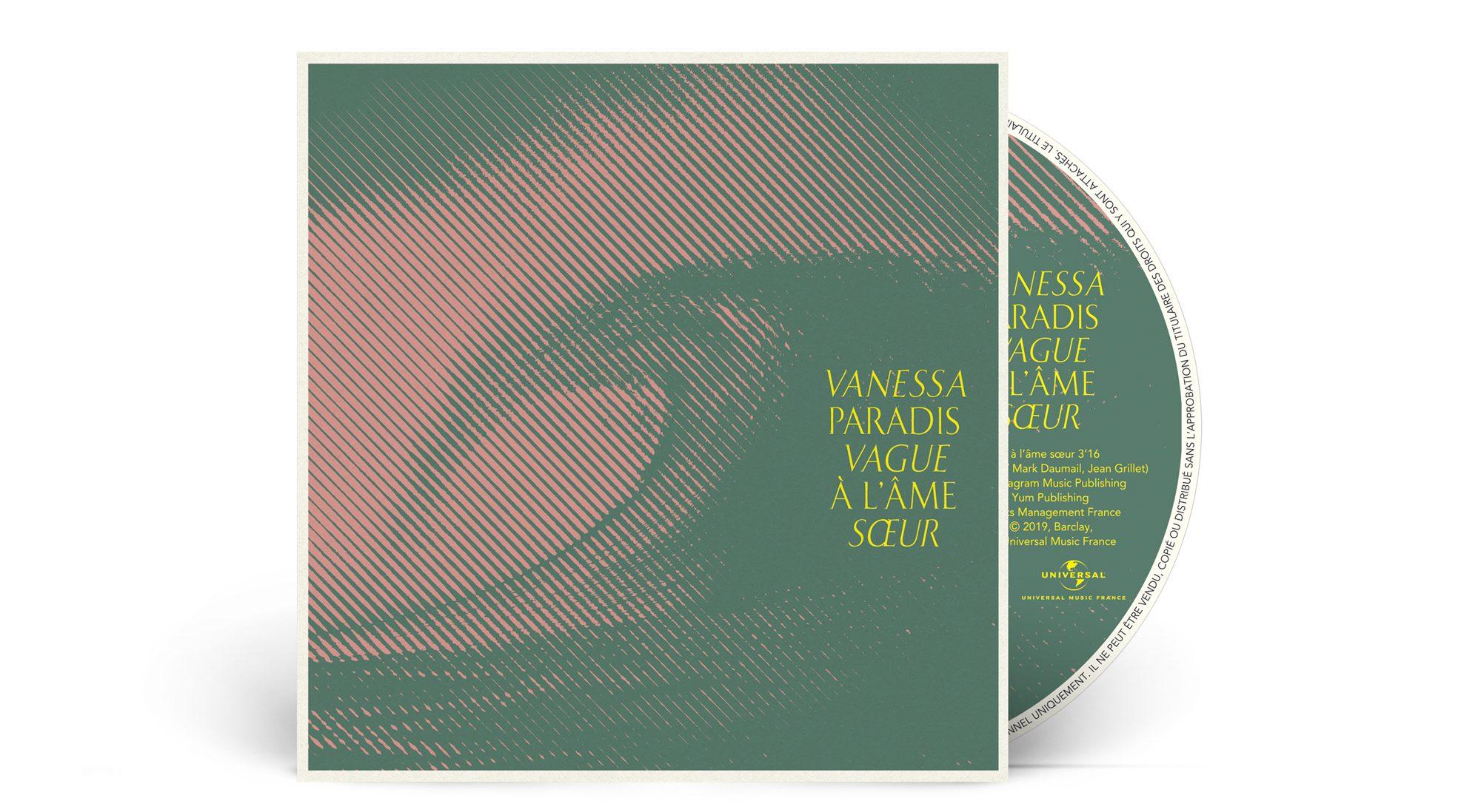 artwork du nouveau single vague à l'âme soeur de Vanessa Paradis 2019 par le studio de graphisme ichetkar