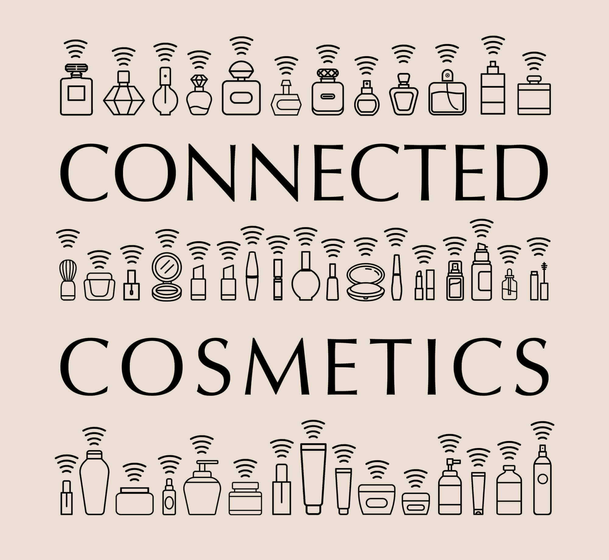 connected cosmetics logotype ich&kar