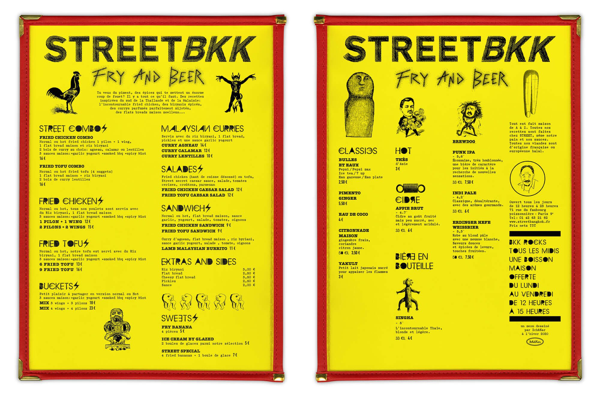 Menu Punk trash street bkk