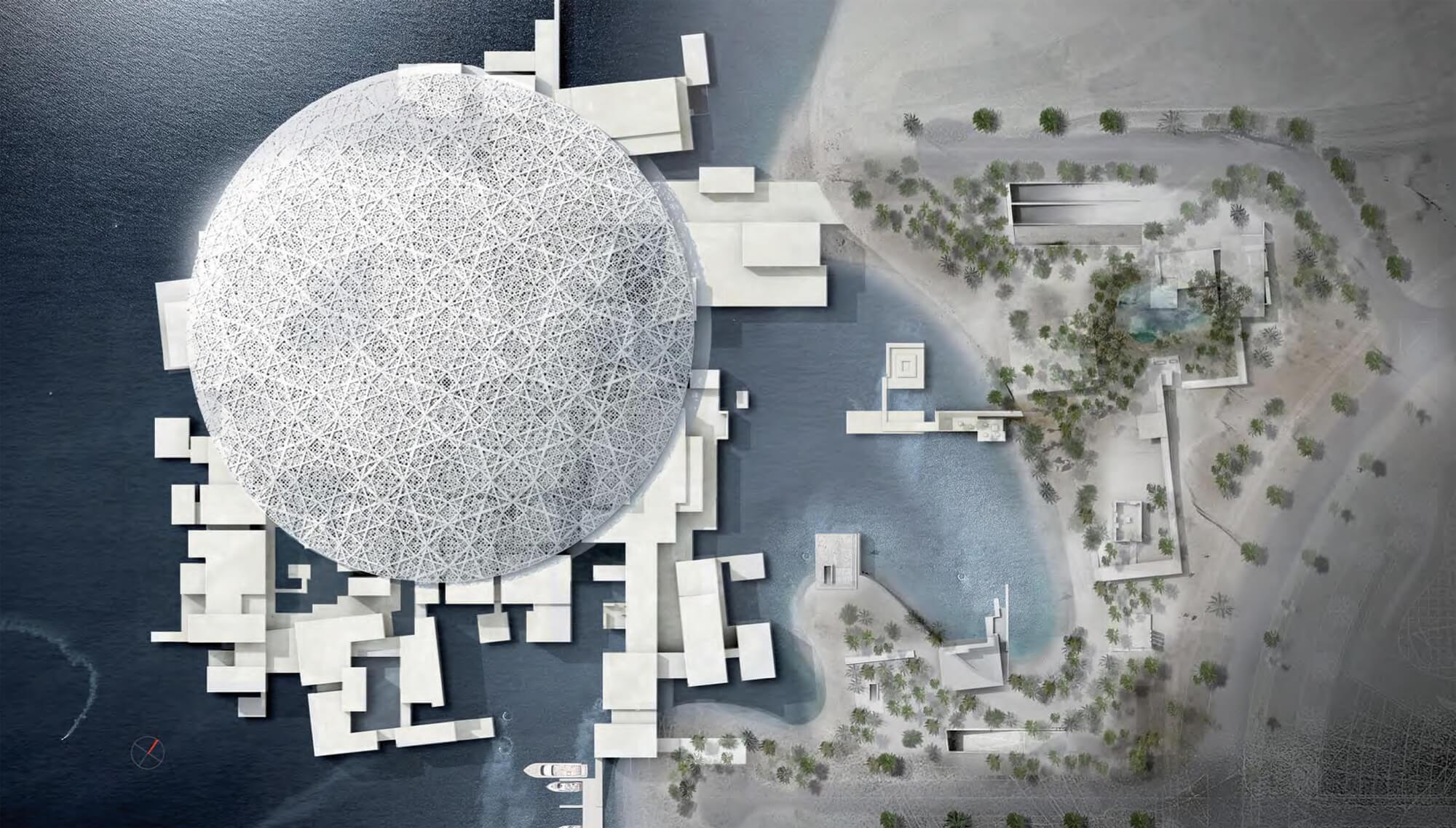 Photo du Louvre Abou Dabi, un projet de Jean Nouvel.