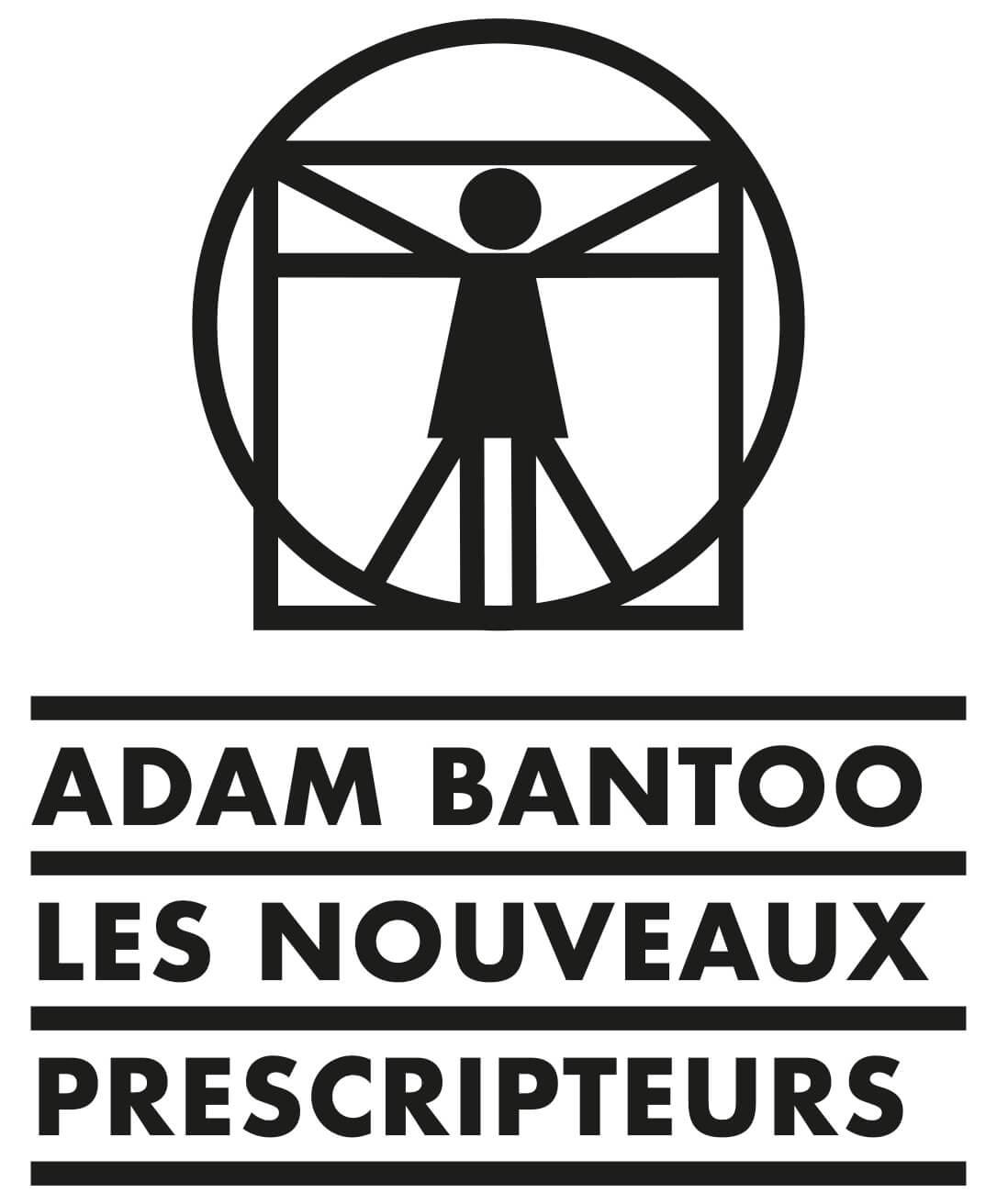 Logo de l'agence de conseil en stratégie Adam Bantoo, femme de vitruve et typographie futura, design by IchetKar