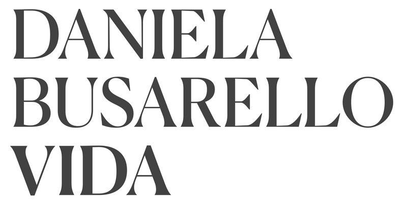 titrage Daniela Busarello Vida, caractère Canela du typographe Miguel Reyes