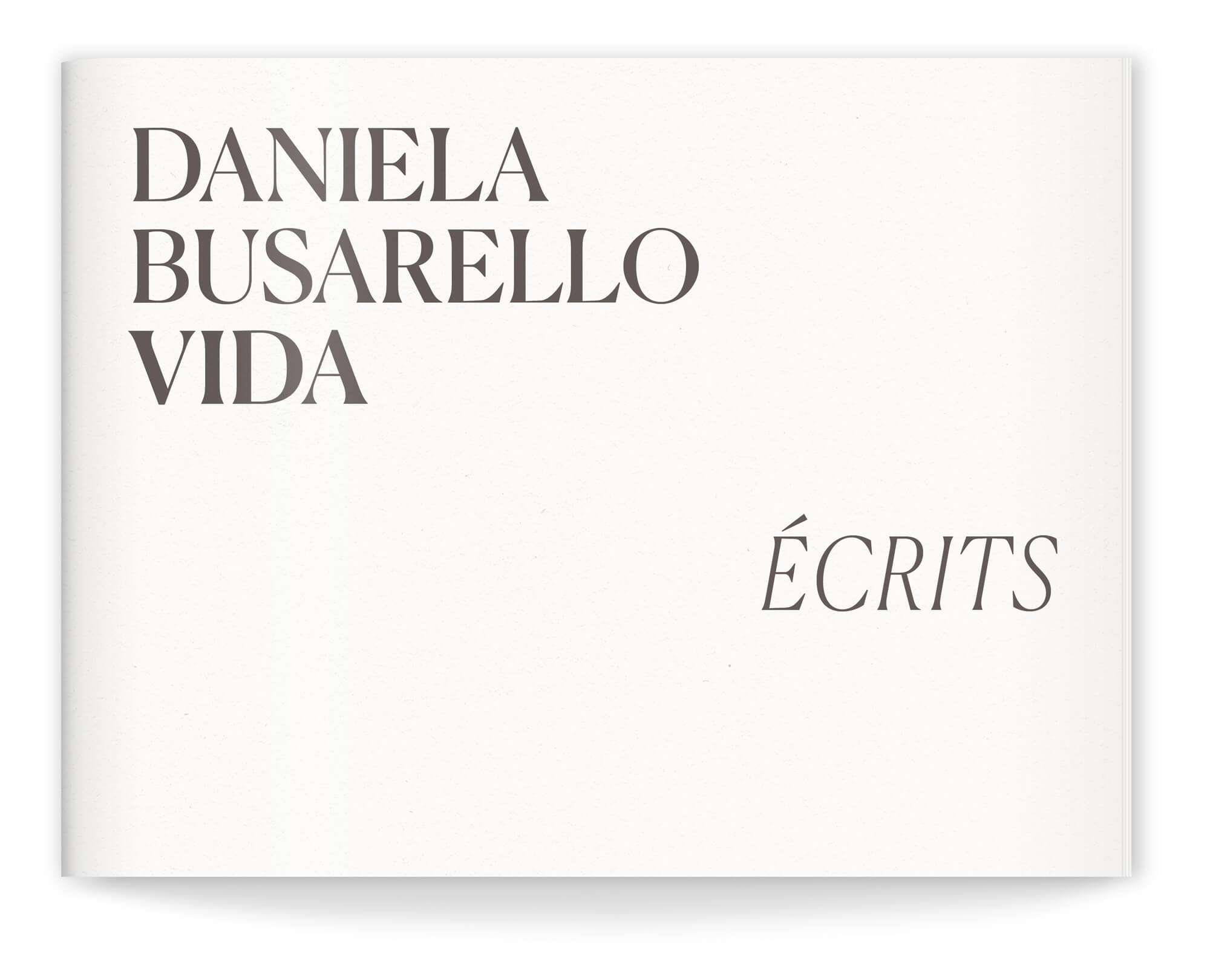 Livre d'artiste de Daniela Busarello Couverture du livret I écrit, design IchetKar