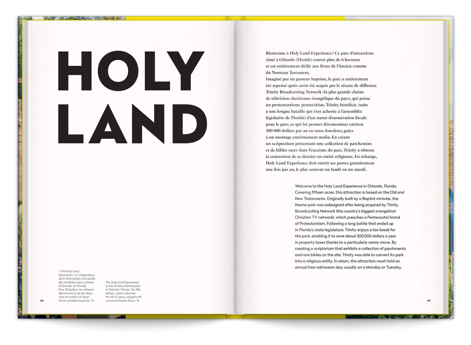 Holy Land, le parc d'attraction sur l'histoire de la bible, maquette et mise en page IchetKar