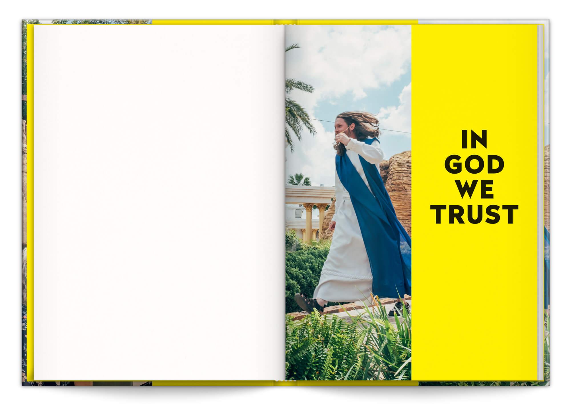 In God We Trust, le livre sur la Bible Belt au Etats Unis, design graphique IchetKar